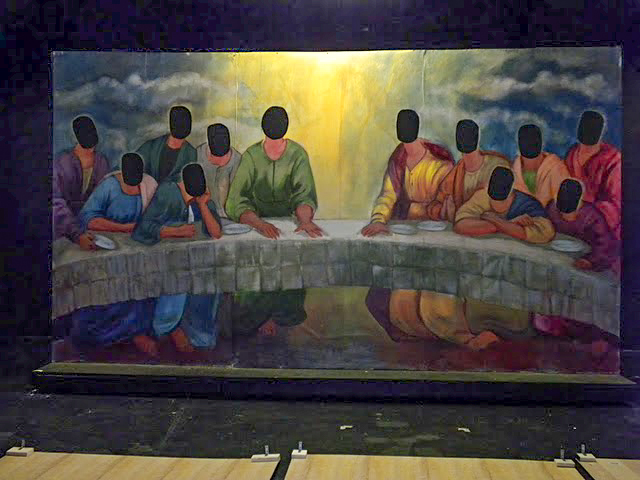 theater backdrop the last supper jesus (1 of 1)