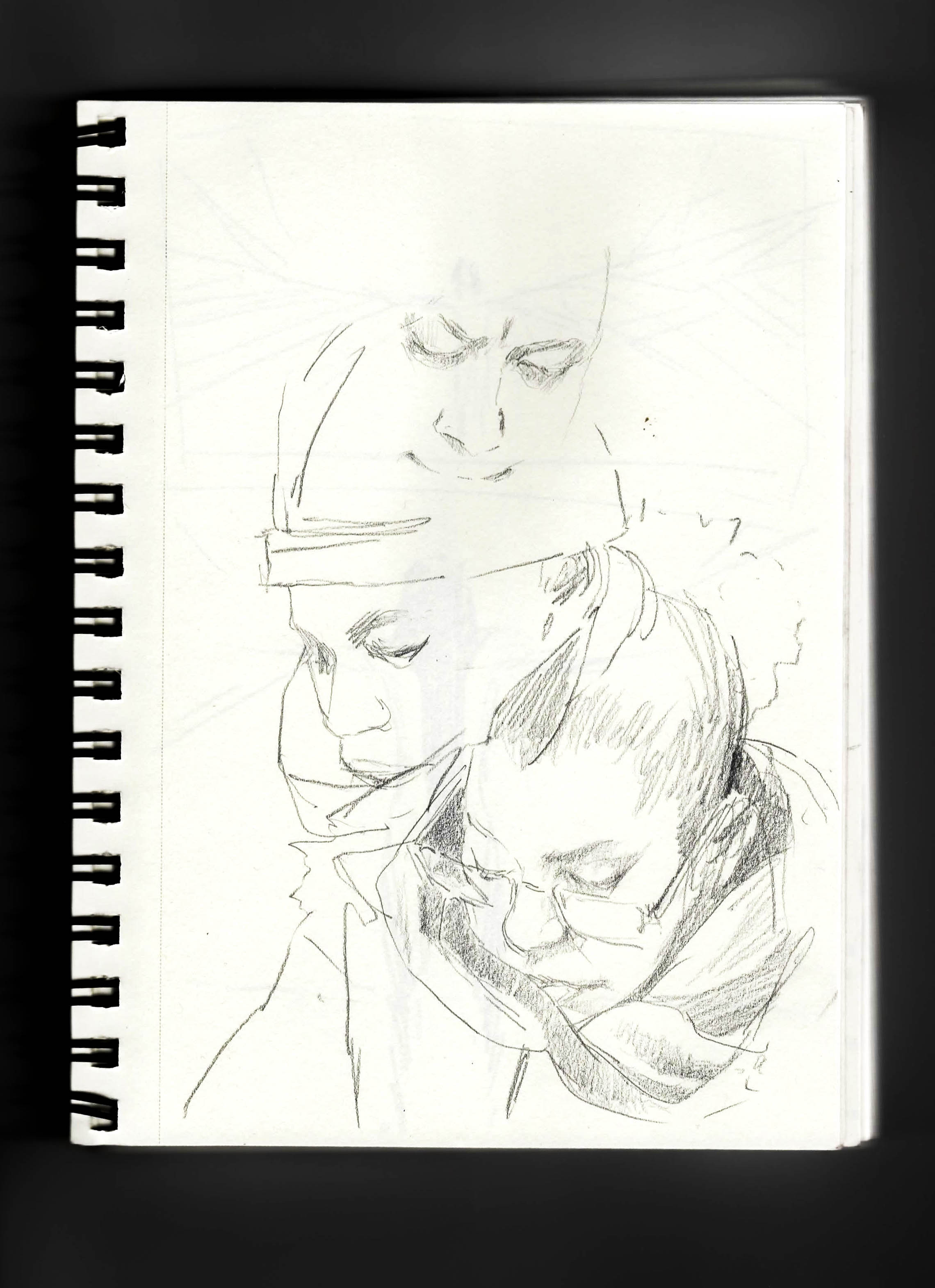 nyc subway sketch