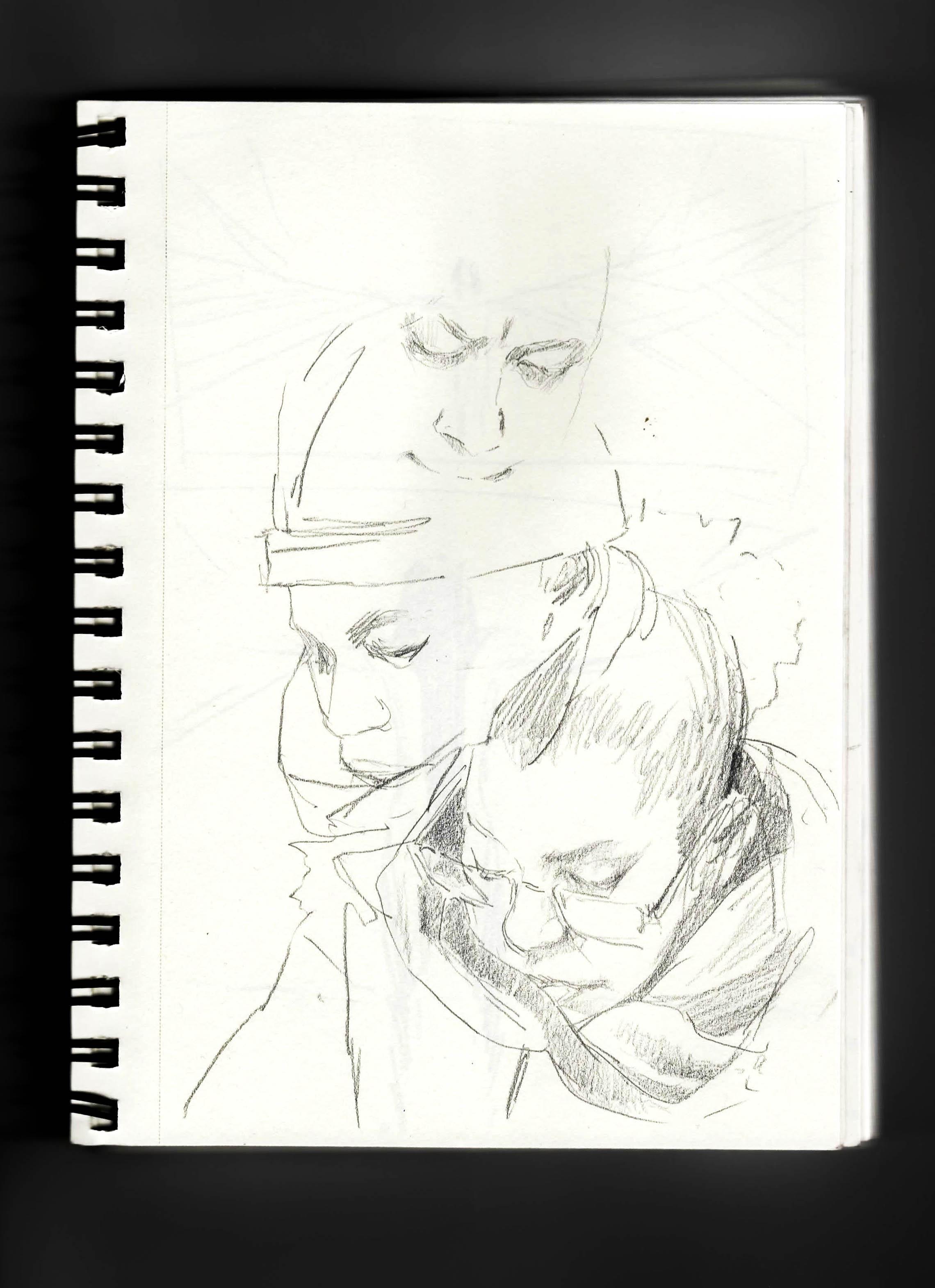 nyc subway sketch