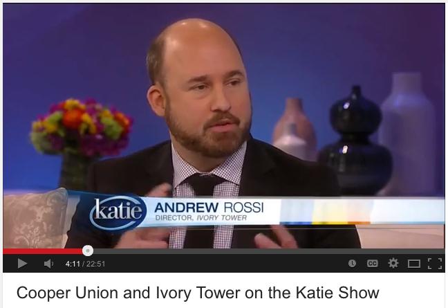 andrew rossi documentary film maker on the katie show