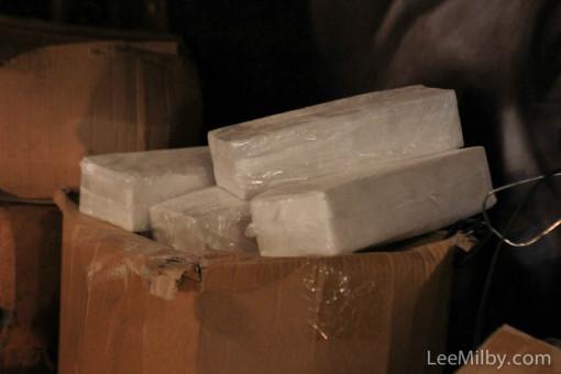 fake cocaine bricks for a film set