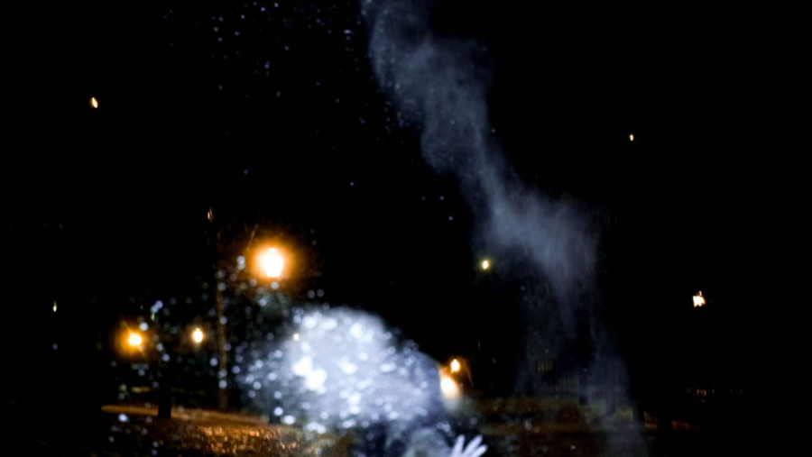 flour powder throwing photography