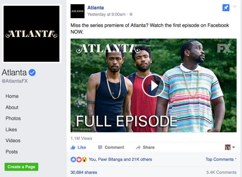 atlanta premiere facebook fx