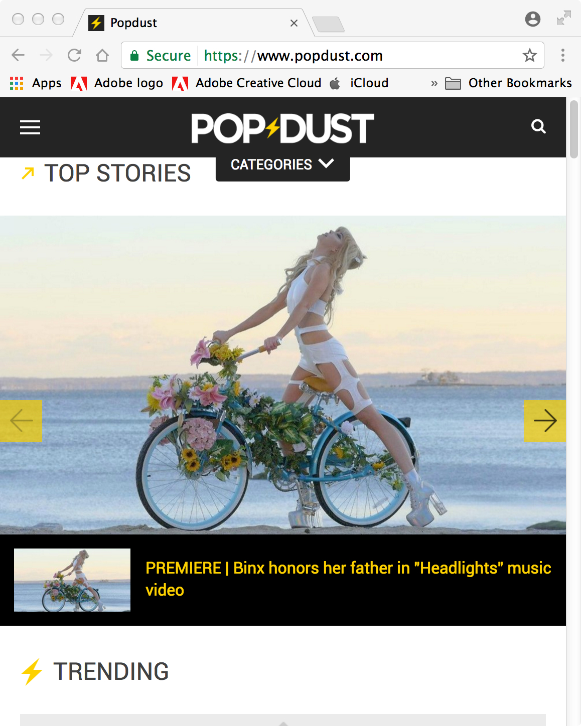 headlights music video binx on Popdust