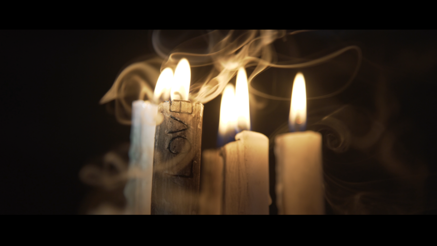 candles burning music video