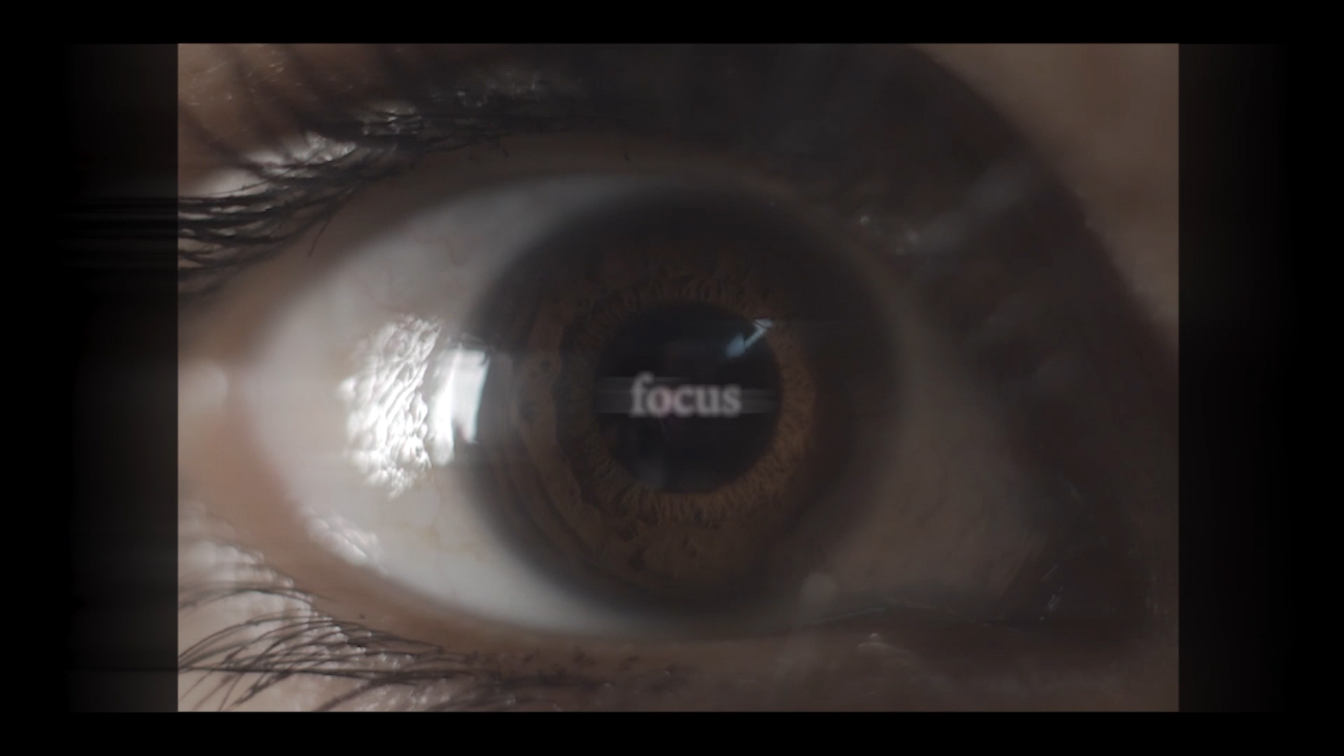 music video eye focus