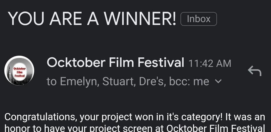Film Festival Award Win