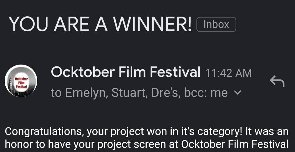 Film Festival Award Win