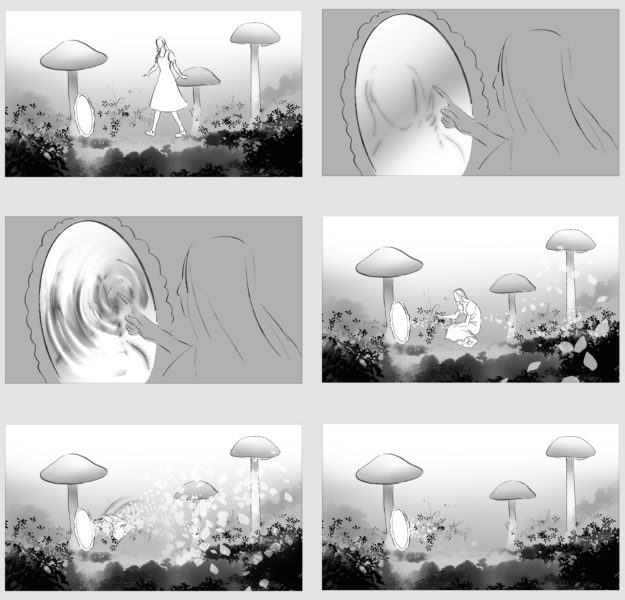 Storyboards for music video NYC