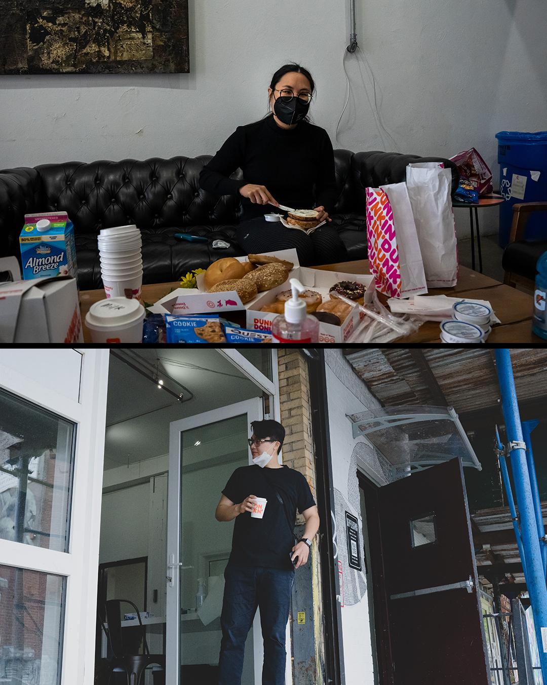 behind the scenes crew on set nyc