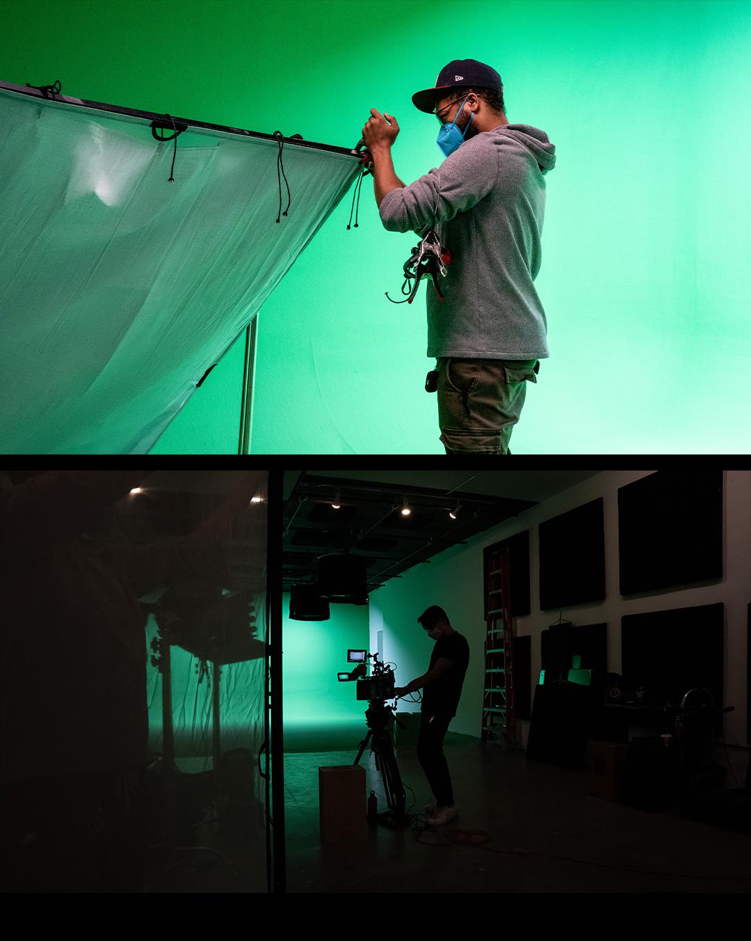 on set greenscreen shoot nyc